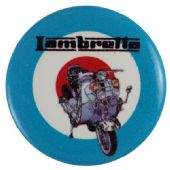 Lambretta  - 'Bike and Target' Button Badge